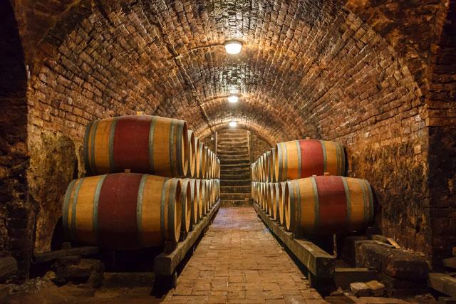 Red wine bottling and sealing conveyor line